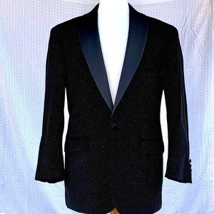 Paul Fredrick Velour Pin Dot Tuxedo Jacket. 42S